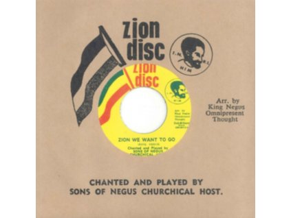 """SONS OF NEGUS - Zion We Want To Go (7"""" Vinyl)"""