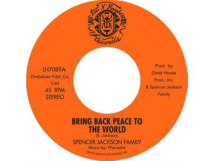 "SPENCER JACKSON FAMILY - Bring Back Peace To The World Pts. I & II (7"" Vinyl)"