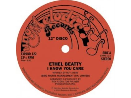 """ETHEL BEATTY - I Know You Care / Its Your Love (12"""" Vinyl)"""