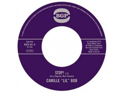 """CAMILLE LIL BOB - Stop! / Brother Brown (7"""" Vinyl)"""