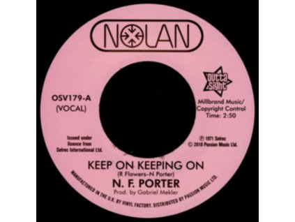"""NOLAN PORTER - Keep On Keeping On / If I Could Only Be Sure (7"""" Vinyl)"""