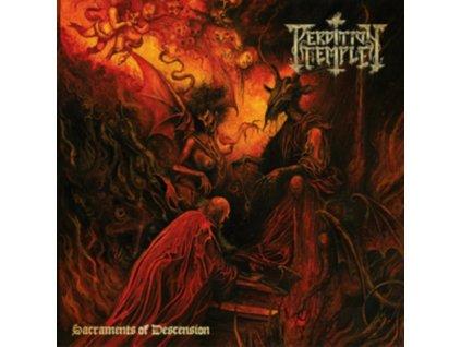 PERDITION TEMPLE - Sacraments Of Descension (Neon Orange/Black/Brown Splatter Vinyl) (LP)