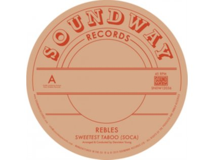 "REBLES - Sweetest Taboo (Soca) (12"" Vinyl)"