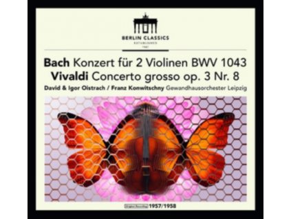 DAVID & IGOR OISTRACH & LEIPZIG GEWANDHAUS ORCHESTRA & FRANZ KONWITSCHNY - Bach: Double Concerto For Violins / Vivaldi / Franck (LP)