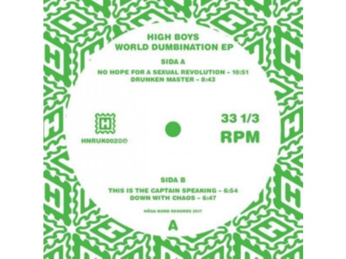 "HIGH BOYS - World Dumbination EP (12"" Vinyl)"