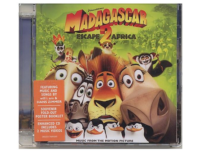 Madagaskar 2: Útěk do Afriky (soundtrack - CD) Madagascar: Escape 2 Africa