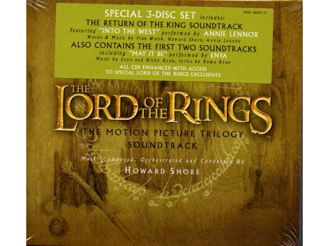 lord of the rings trilogy soundtrack 3 cd howard shore