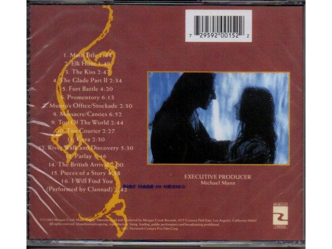 Poslední Mohykán (soundtrack - CD) The Last of the Mohicans