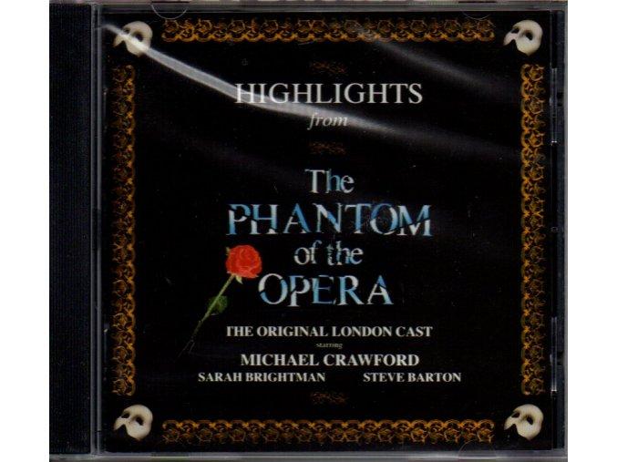 highlights from phantom of the opera cd andrew lloyd webber