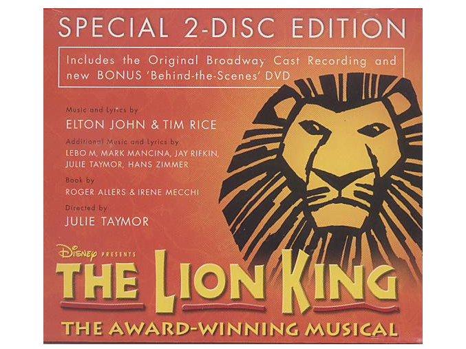 Lví král (muzikál) The Lion King (CD + DVD)