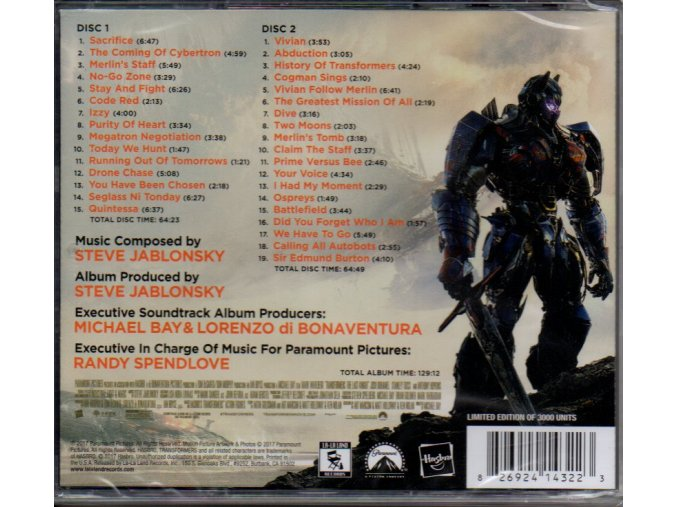 transformers last knight soundtrack steve jablonsky