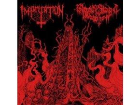 IMPRECATION / BLACK BLOOD INVOCATION - Diabolical Flames Of The Ascended Plague (LP)