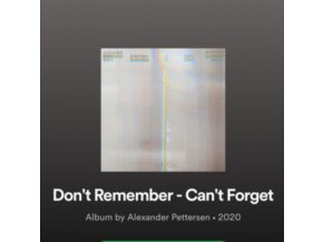 ALEXANDER PETTERSEN - Dont Remember - Cant Forget (LP + CD)
