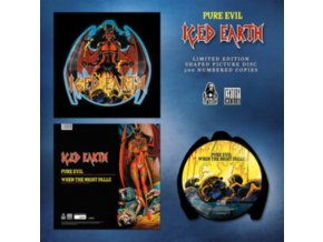"ICED EARTH - Pure Evil (Shaped Picture Disc) (12"" Vinyl)"