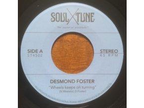 """DESMOND FOSTER - Wheels Keeps On Turning / Attitude (7"""" Vinyl)"""