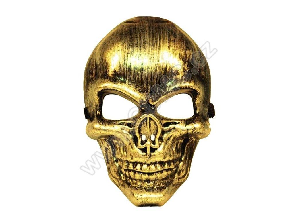 CDMC Maska Lebka zlatá