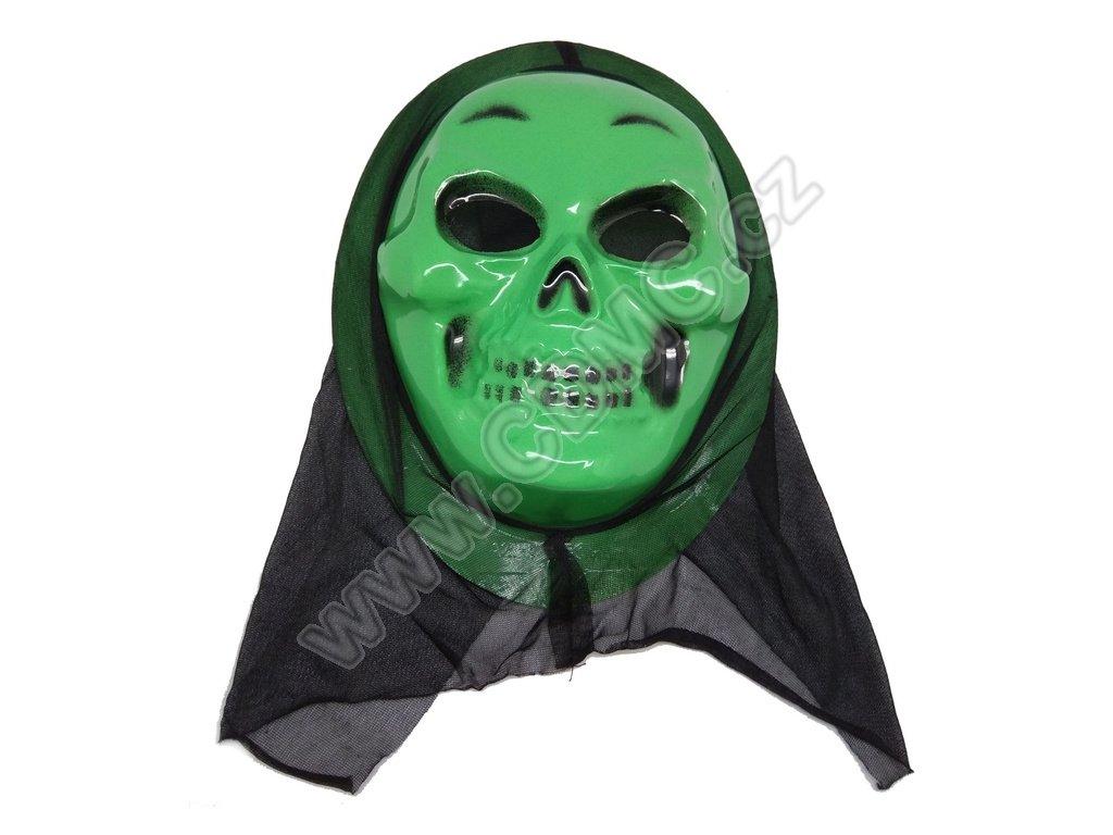 CDMC Maska Lebka zelená 2