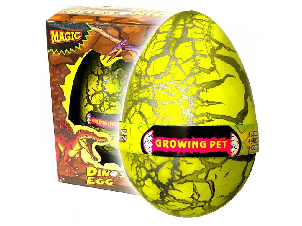 Dinosauří vejce JUMBO líhnoucí se žluté (3609)