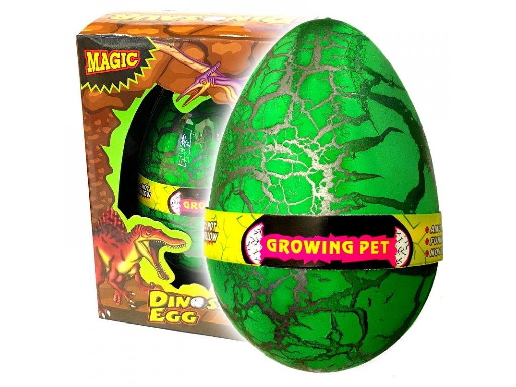 Dinosauří vejce JUMBO líhnoucí se zelené (3609)