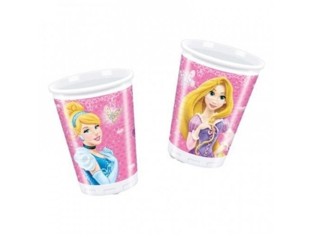 7003011 5201184815779 decorata party 8 plastic cup disposable disney princess 200ml rockaparty 1 800x800