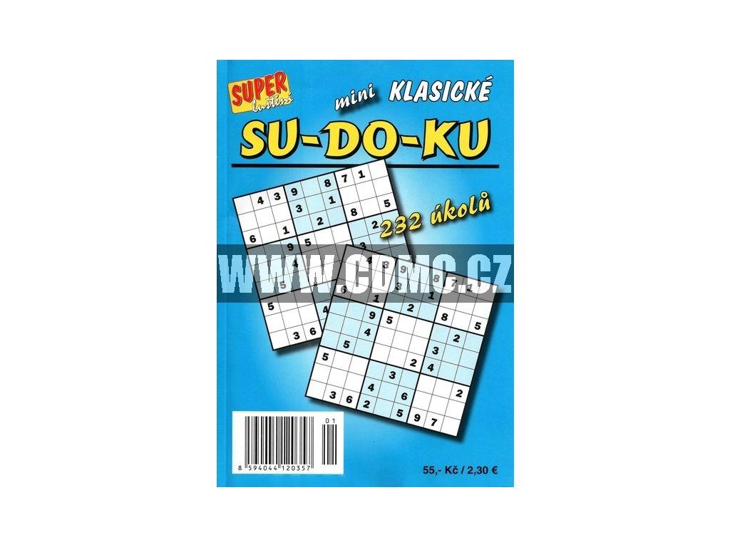 Super Luštění Sudoku 232 úkolů SU-DO-KU mini klasické