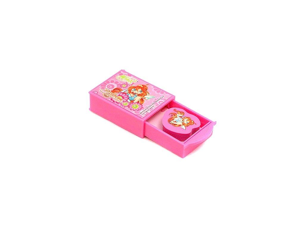 Winx Club guma s tajnou přihrádkou Bloom růžová (1884)