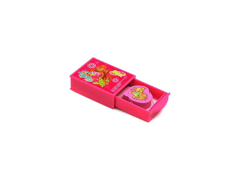 Winx Club guma s tajnou přihrádkou Flora fialová (1884)
