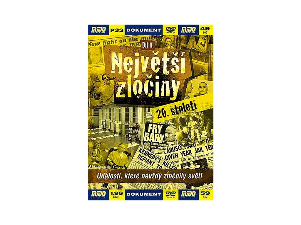 Největší zločiny 20. století II. DVD papírový obal