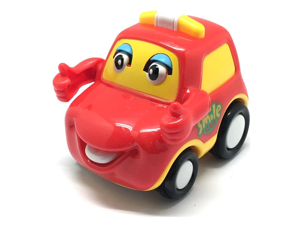 Q-Machines veselé auto s rukama červené (4262)