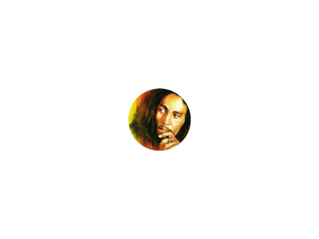 Placka Bob Marley 25mm (026)