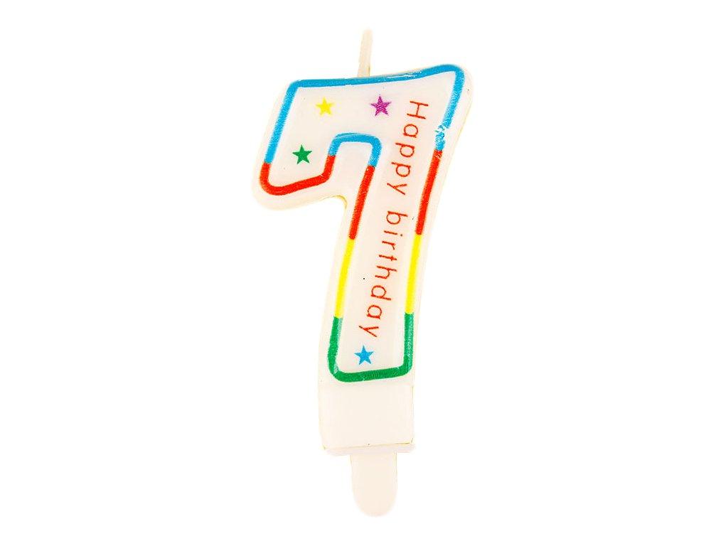 Narozeninová svíčka číslo 7 (7633)