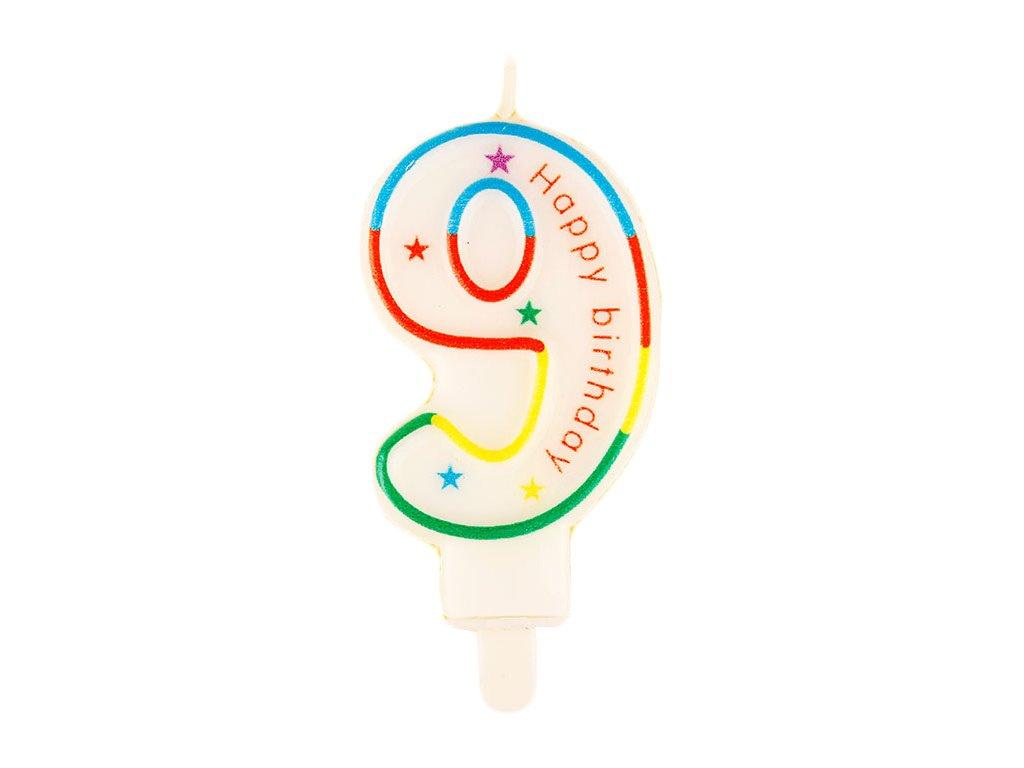 Narozeninová svíčka číslo 9 (7633)