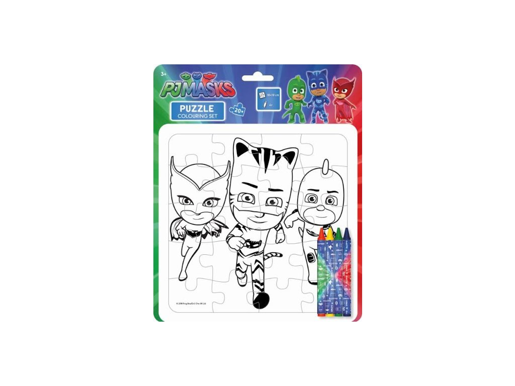 Omalovánkové puzzle s voskovkami PJ Masks (6371)