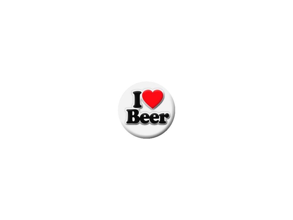 Placka I Love Beer 25mm (069)