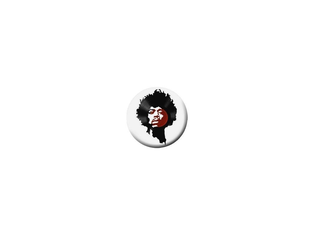 Placka Vinil Jimi Hendrix 25mm (073)