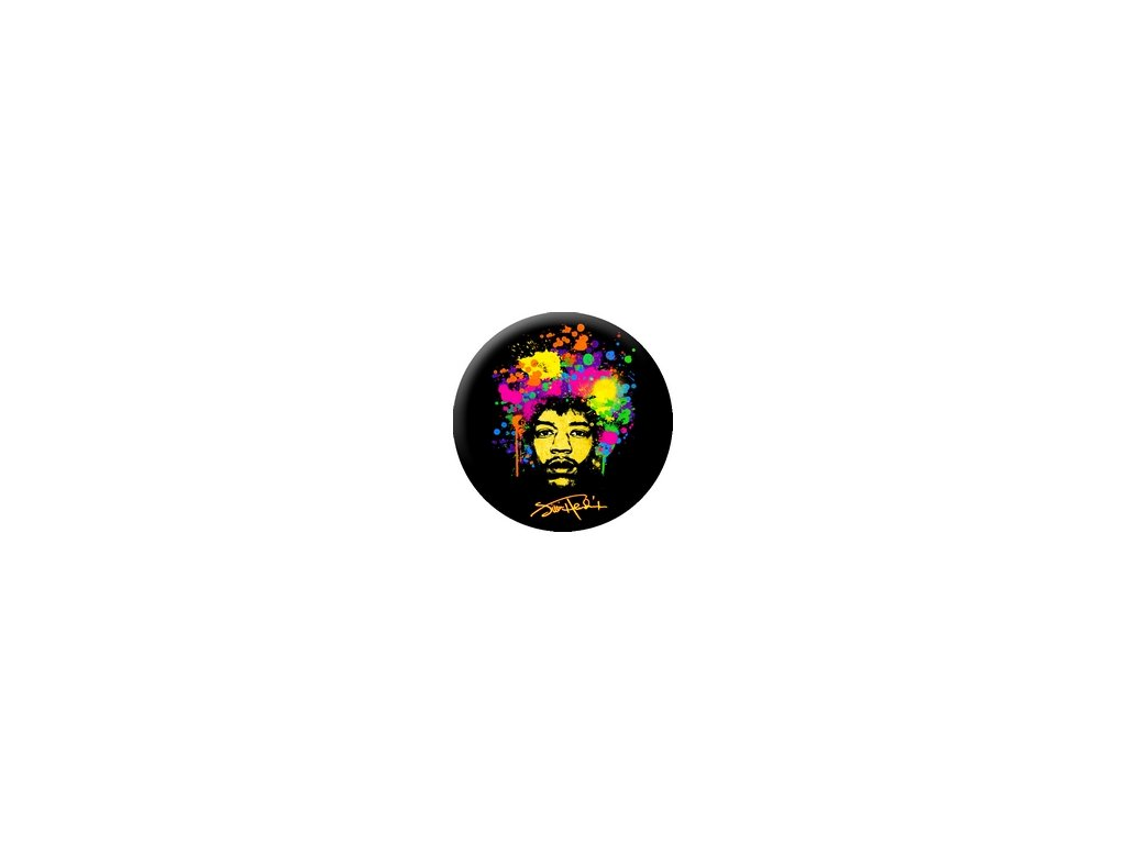 Placka Jimi Hendrix 25mm (070)