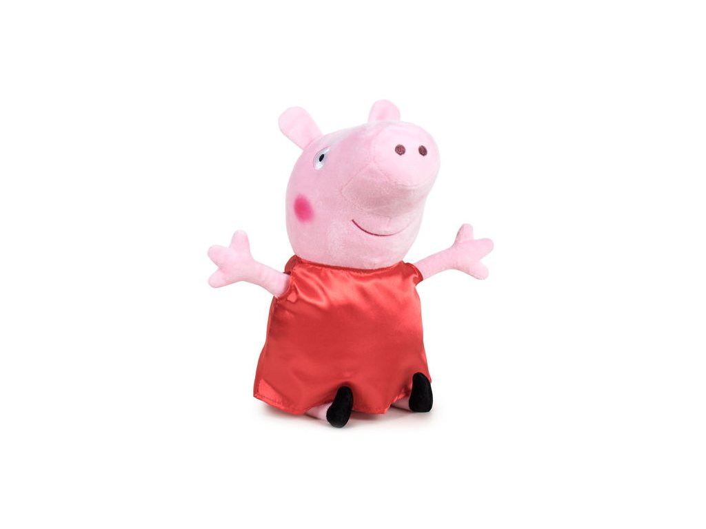 PLYŠ Prasátko Peppa Pig 20 cm červený (5940)