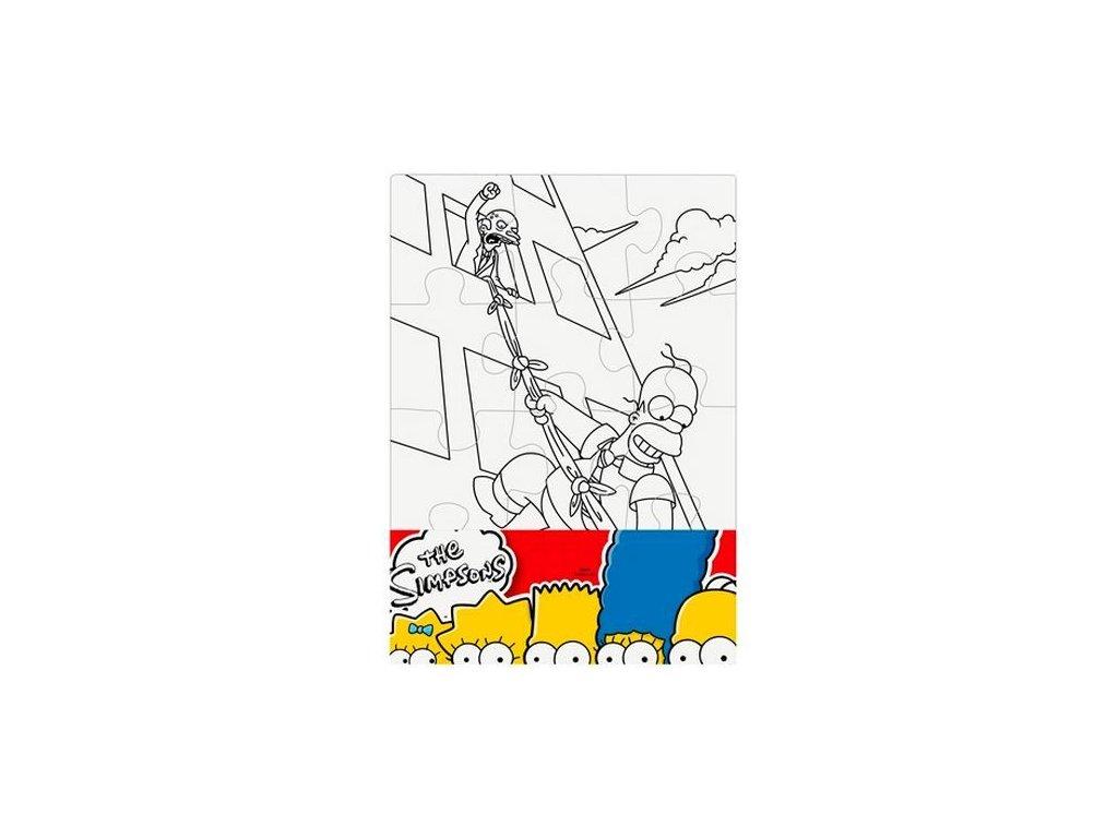 Puzzle The Simpsons vymaluj si obdélník 21x30 cm (2519)