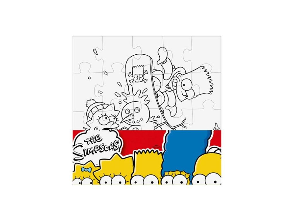 Puzzle The Simpsons vymaluj si čtverec 25x25 cm (2526)