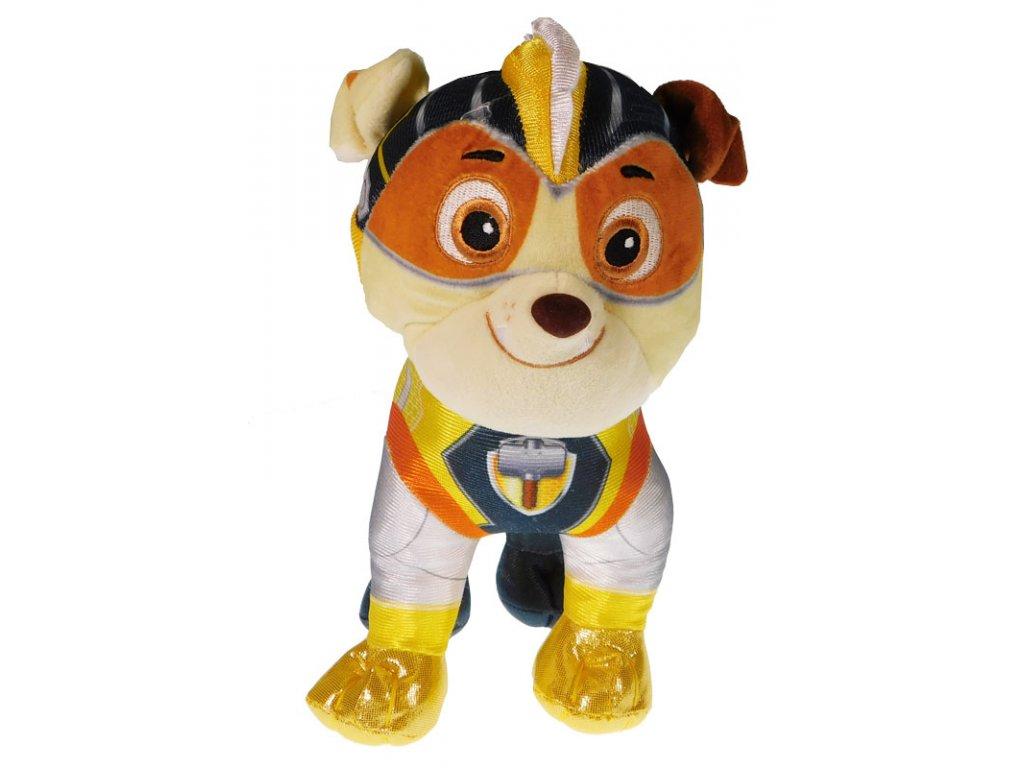 Plyšová figurka Tlapková patrola Super Mighty Pups Rubble 27 cm (1012)