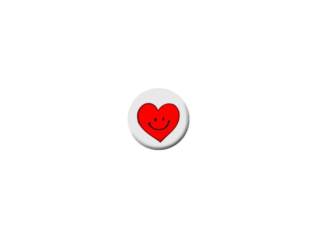 Placka Srdce 25mm (126)