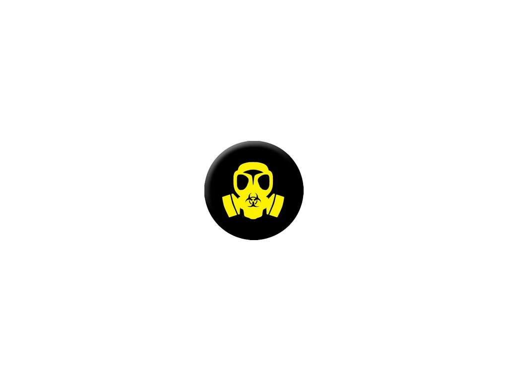 Placka Biohazard 25mm (158)