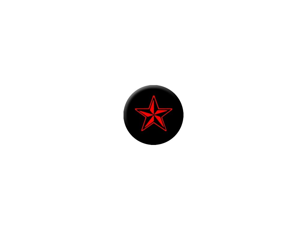 Placka Nautica Star (Red & Black) 25mm (164)