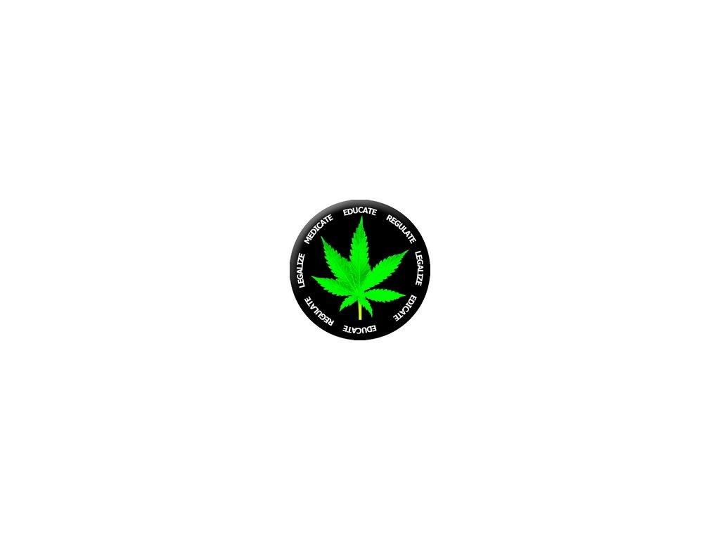 Placka Marihuana 25mm (169)