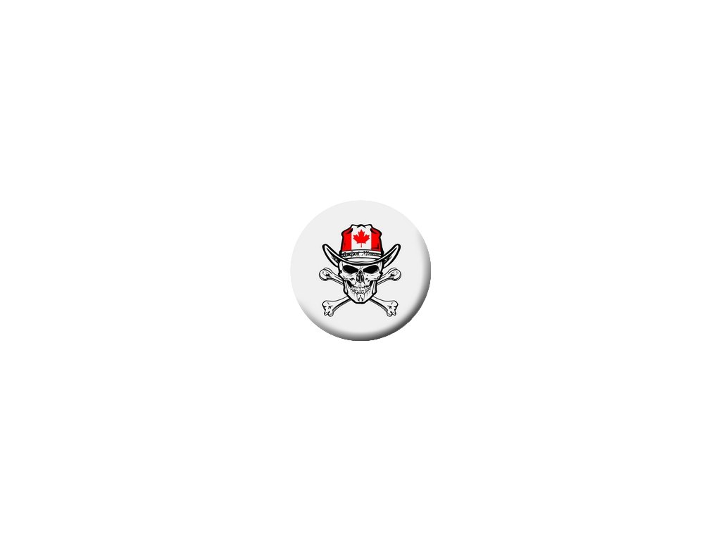 Placka Dallas Cowboys Skull 25mm (185)