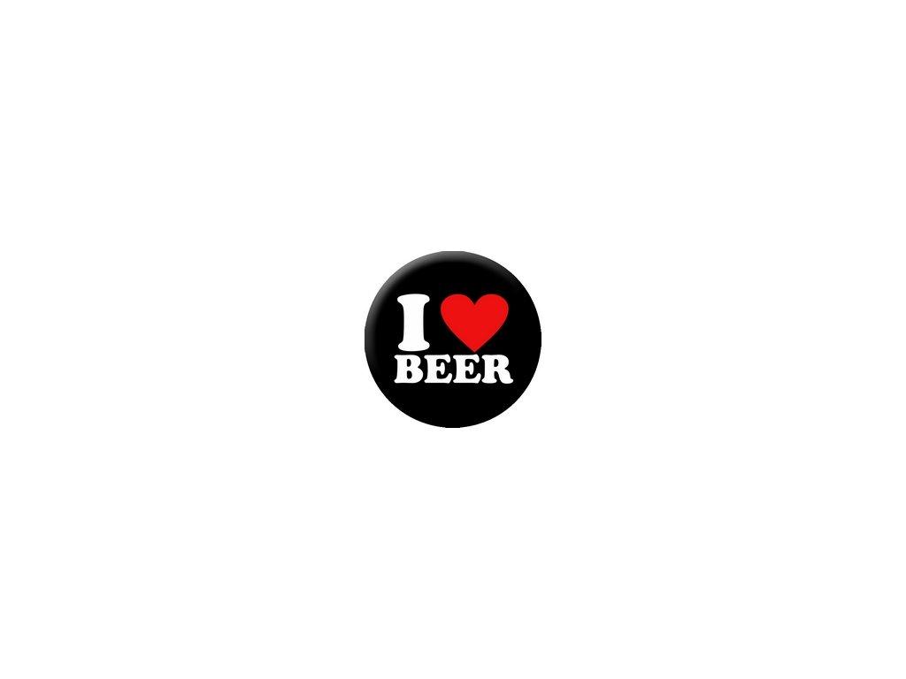 Placka I Love Beer 25mm (225)