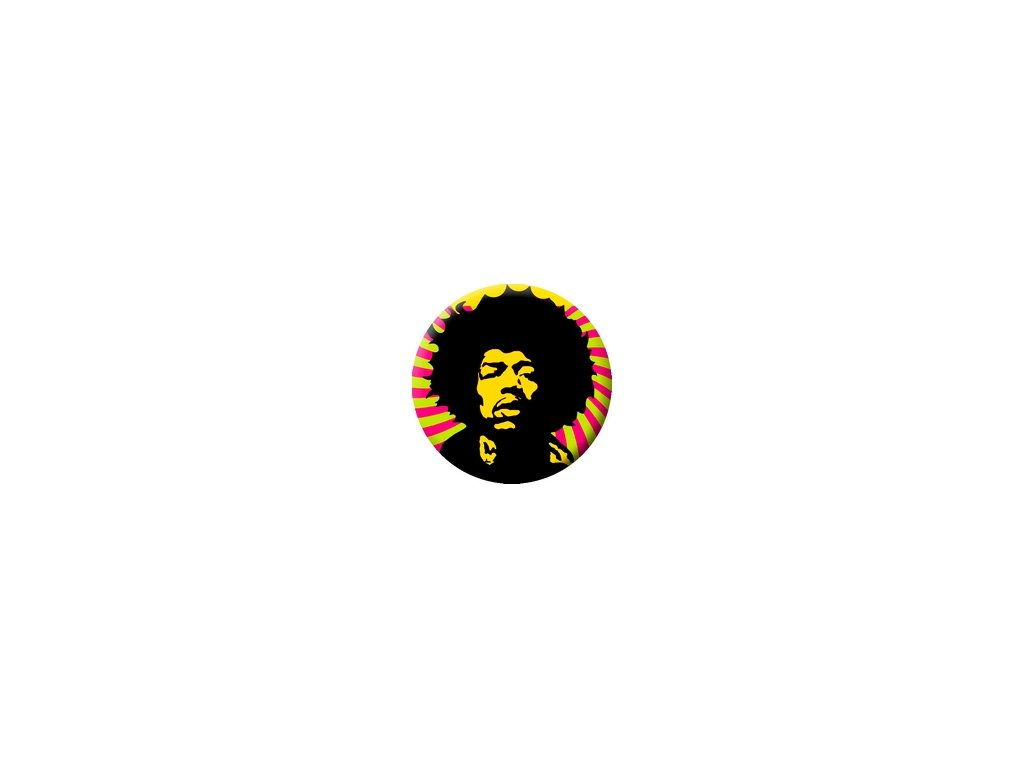 Placka Jimi Hendrix 25mm (254)
