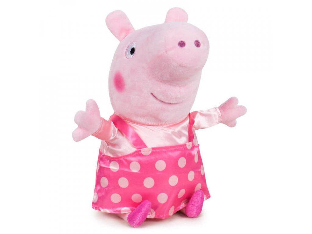 PLYŠ Prasátko Peppa Pig 31 cm puntíky (5957)
