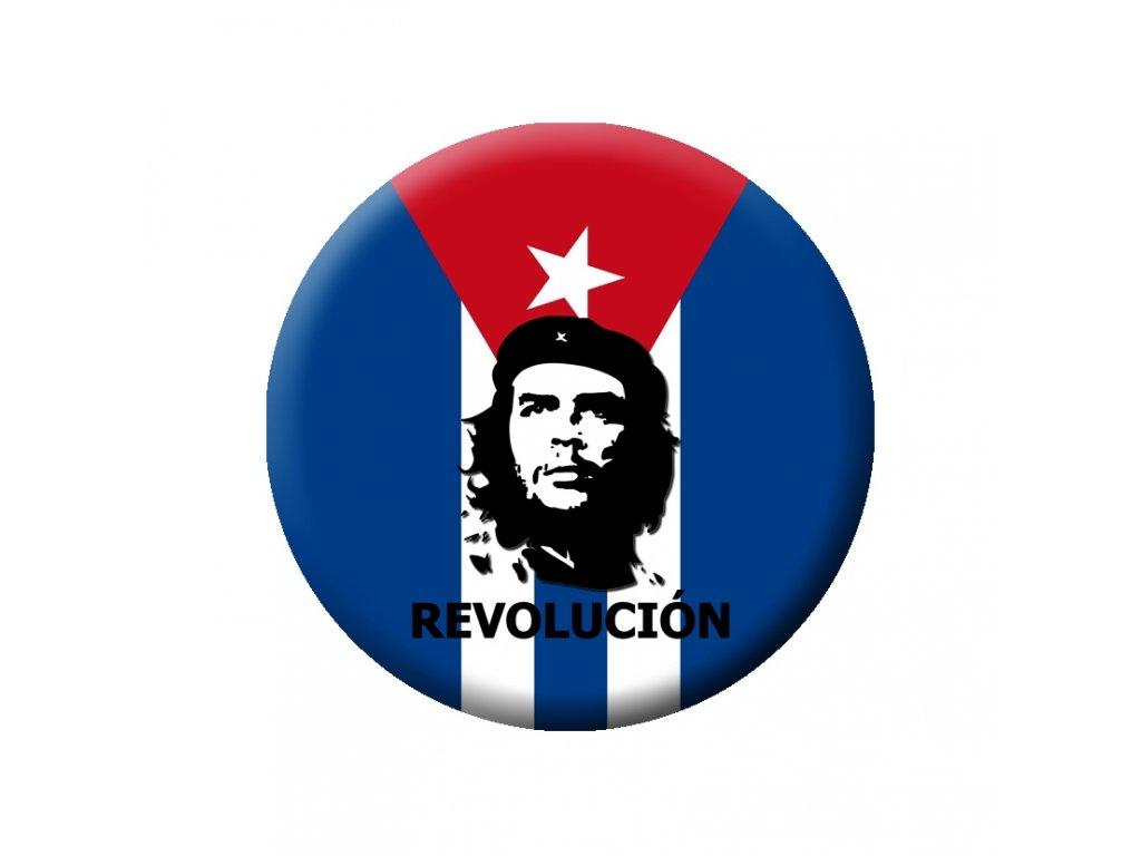 Placka Che Guevara Revolucion 25mm (281)