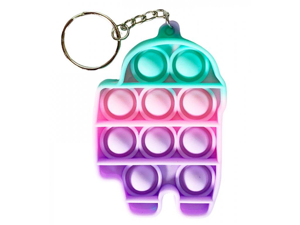 Antistresová klíčenka POP IT Among Us barevný (329)